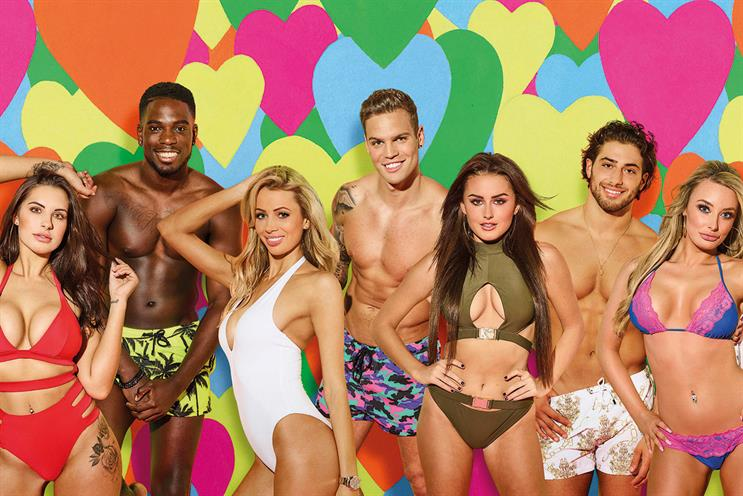 Love Island: the number of 16- to 34-year-olds watching the ITV2 series has increased by 86% year on year