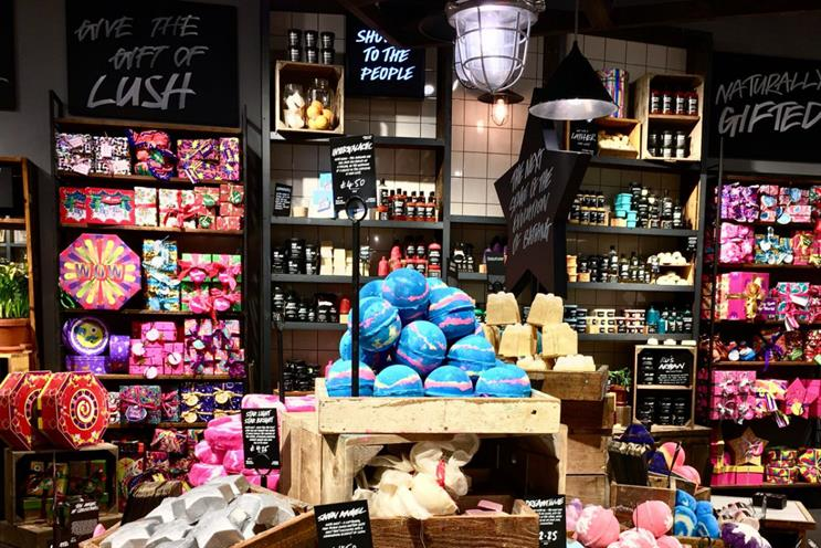 Lush: encouraging consumers to contact brand directly