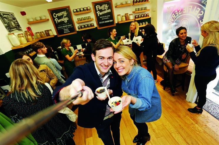 Lyle's Golden Syrup used social media as currency at its Selfie Service Cafe pop-up