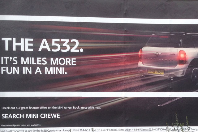 Mini: ASA rules poster ad would give the impression of excessive speed