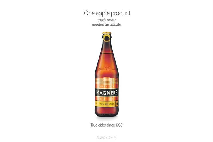 Magners: the cider brand will strengthen its pub presence in England and Wales following Admiral deal