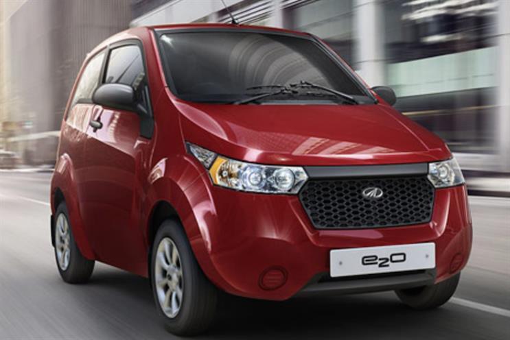 Mahindra's e20 car