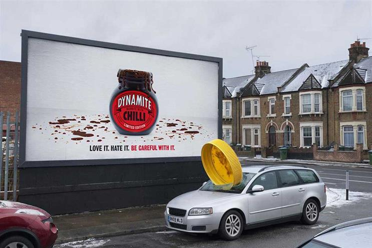 Marmite: billboard appeared in Woolwich