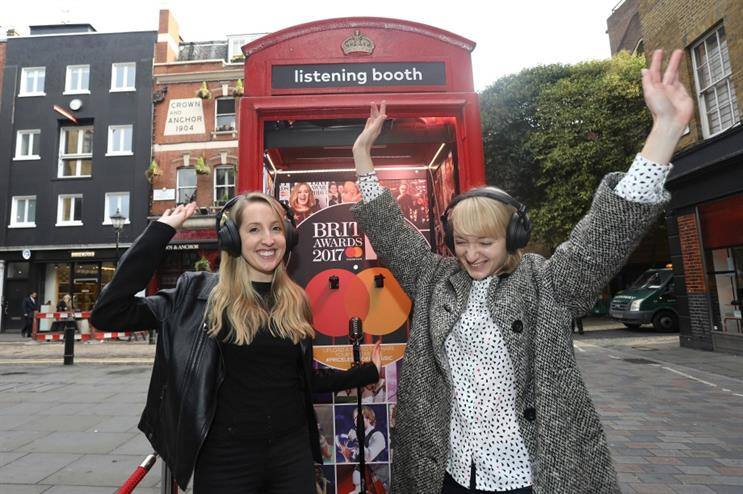Mastercard's BRITs Listening Booth opens in Covent Garden