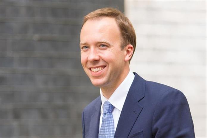 Matt Hancock: appointed health secretary on Monday
