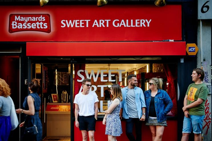 Inside the Maynards Bassetts Sweet Art Gallery