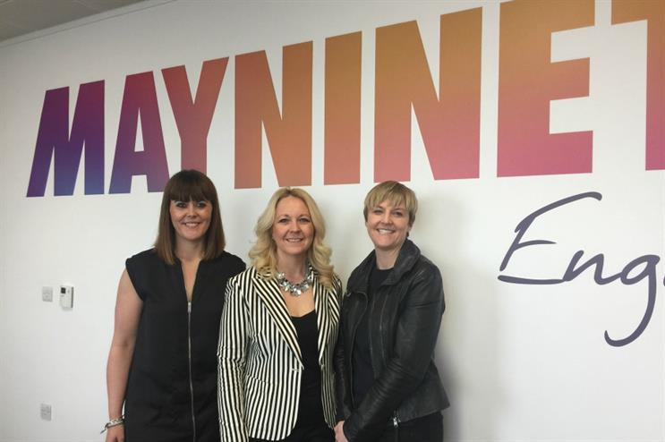 L-R: Lynsey Hulme, Alison Bowcott-McGrath and Katie Coombes of Maynineteen