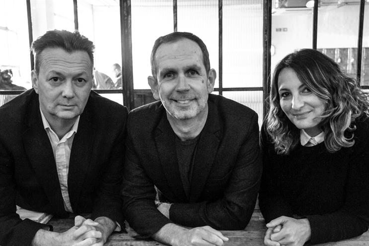 Ellipsis Entertainment: (from left) Jon Scott, Andrew McGuinness and Connie Harrison
