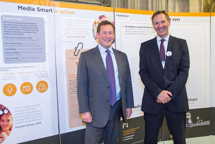 Media Smart: Lund (r) discussed the initiative with lords and MPs including Vaizey