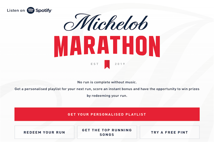 Michelob Ultra targets runners through global Spotify campaign