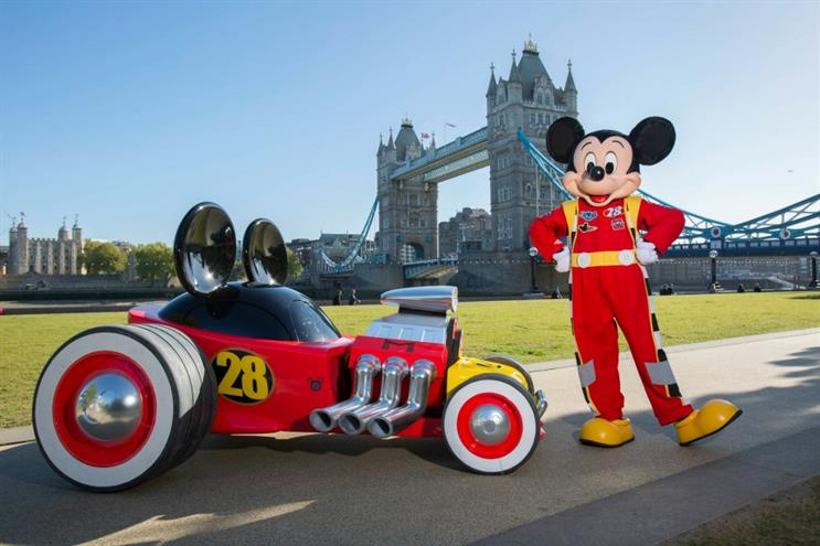 Mickey Mouse's Roadster Racer comes to London