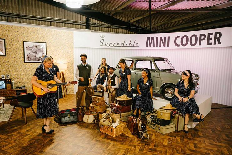 Mini: large-scale activation at Goodwood Revival relied on numerous staff