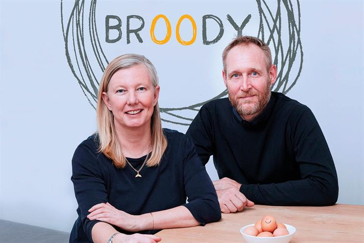 Pippa Dunn (left) with Andy Medd, co-founder of Broody and Mother Partner