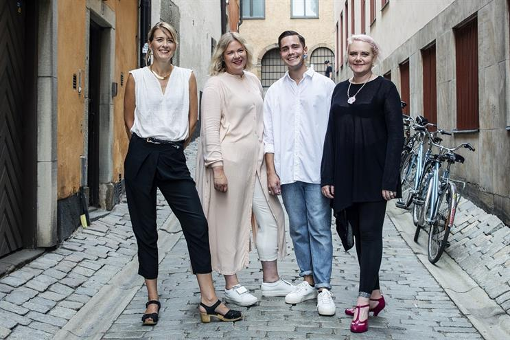 Mr President's Claire Hynes, with First Lady founders Thea Hamrén and Emil Rydberg, and Mr President's chief creative officer Laura Jordan Bambach