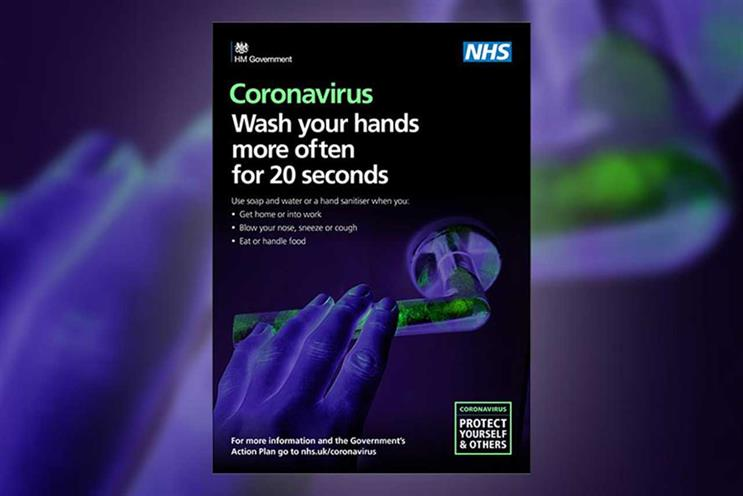 NHS: coronavirus ads focus on handwashing