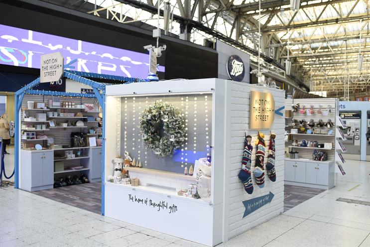 Notonthehighstreet taps Christmas shoppers with two pop-ups