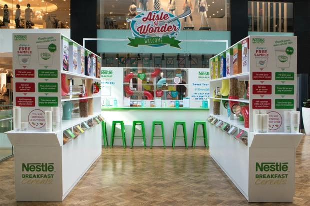 Nestlé to bring back Aisle of Wonder to Westfield Stratford