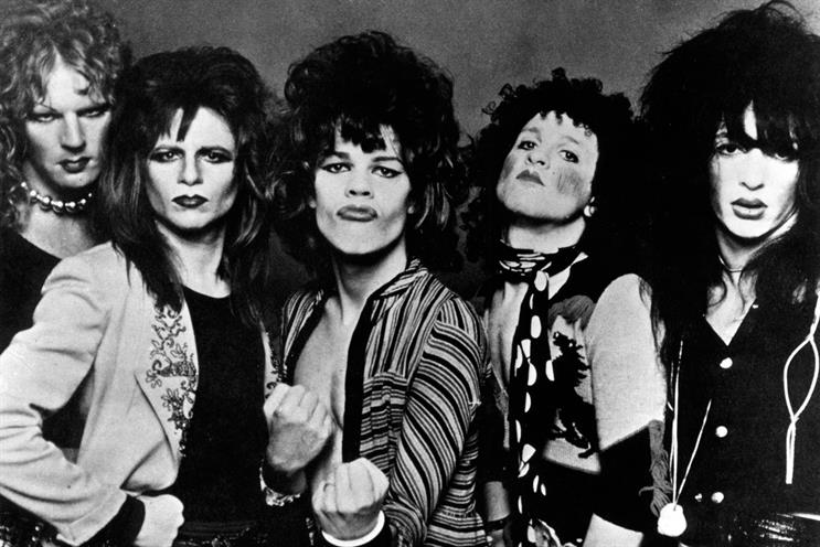 New York Dolls: Kane (far left) 'saw Warhol as a man who had built himself into a brand  – so that you didn't look at the art, the product, at all; that was irrelevant: you looked at the brand'. He died in 2004. Credit: Getty Images