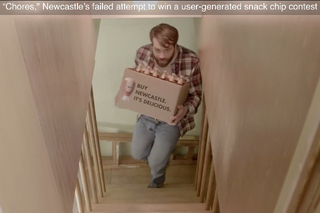 Newcastle Brown Ale: the ad it entered into Doritos' 'Crash the Super Bowl' UGC competition