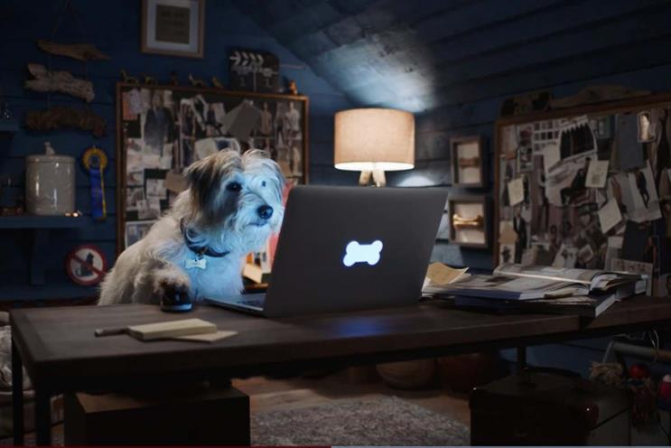 Next: ad from 2017 featured a dog shopping online
