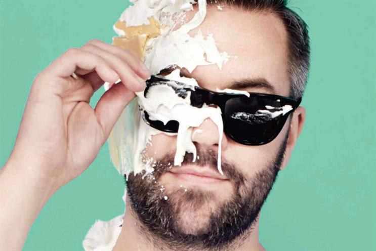 Nils Leonard, outgoing chairman and chief creative officer at Grey London, was among the creatives hit with a cream pie