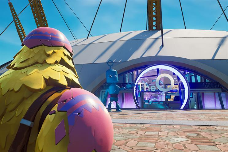 O2: brand character Bubl will appear throughout the experience
