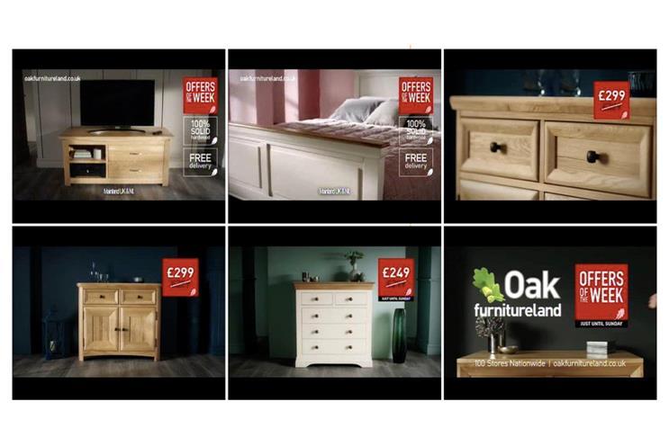 Oak Furnitureland: repetition is key