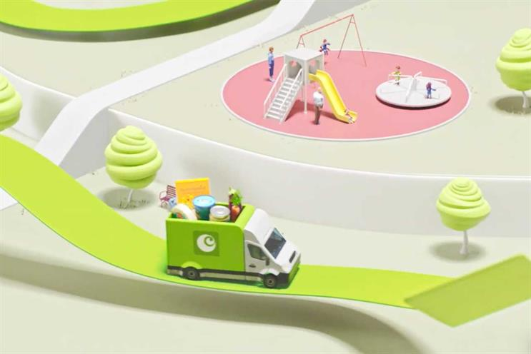 Ocado: Now created animated campaign last year