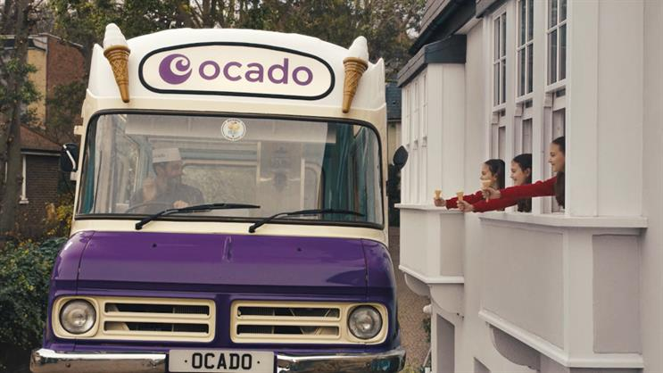 Ocado: the van transforms into marvellous machines including an ice cream van on extendable feet