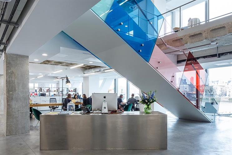 Inside Ogilvy's offices at Sea Containers, London