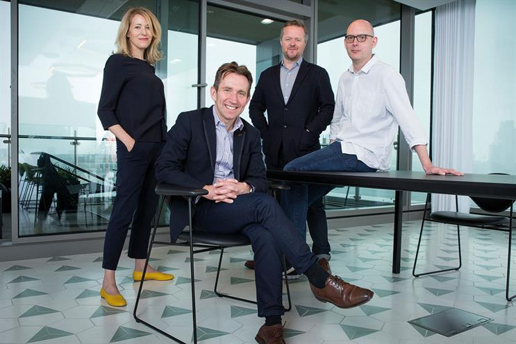 Ogilvy & Mather London: (left to right) Donald, Rudd, Mahoney and Chesters