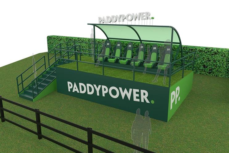 Paddy Power: first time Cheltenham has offered these seats