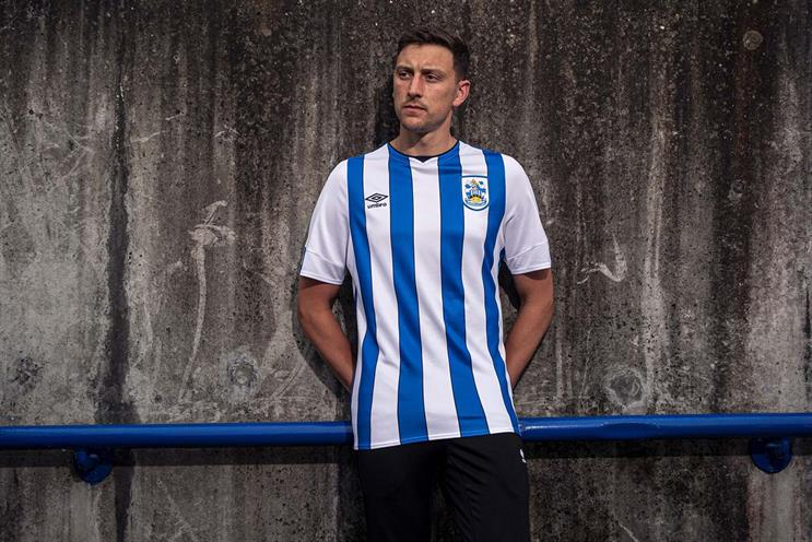 Huddersfield Town: will stand out due to lack of sponsor logo on shirt