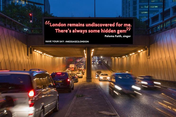 Paloma Faith: the singer joined a host of celebrities who took part in Message2London