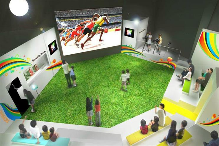 Panasonic: Stadium of Wonders in Tokyo (above) and in Rio