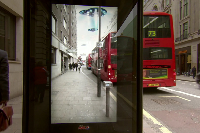 Pepsi Max makes commuters jump with alien invasions and tigers at London bus shelter