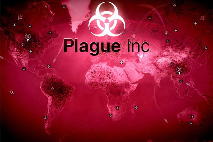 Plague Inc: topped chart in countries including China, UK and US