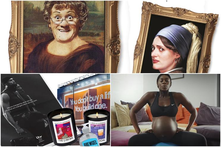 Clockwise from top: Mrs Brown's Boys vs. Fleabag, Nike, Uncommon Creative Studio