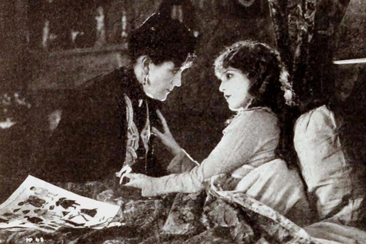 Sunny disposition: Mary Pickford (right) as title character in Pollyanna (1920)