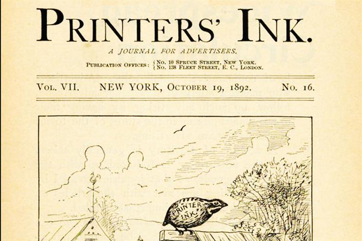 History of advertising: No 156: Printers' Ink