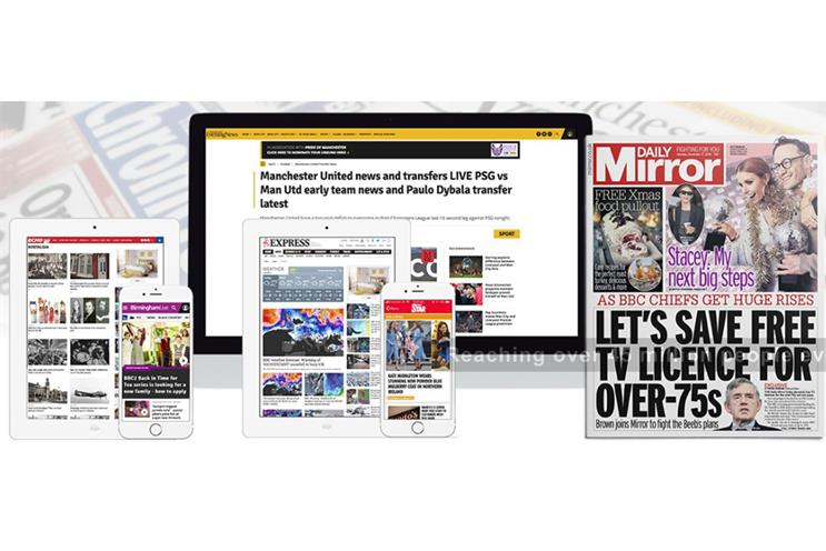 Reach: owns brands including Daily Mirror and Express