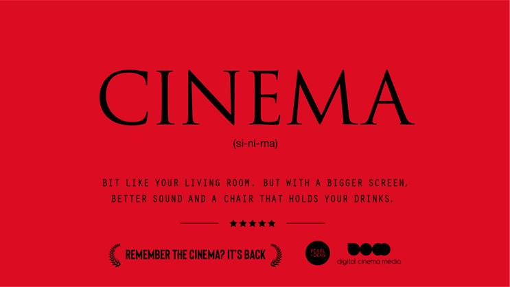'Remember cinema': features jokey dictionary definitions to remind filmgoers of the big-screen experience