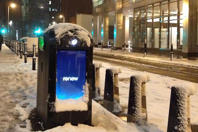 Renew: marketing company operates recycling bins
