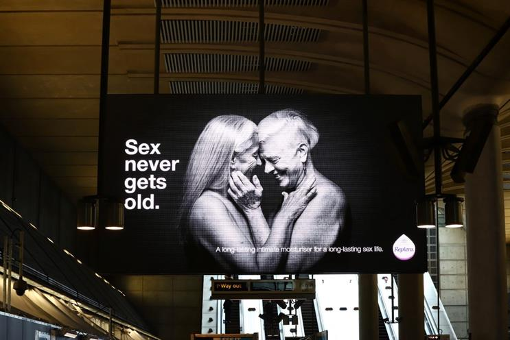Replens MD: campaign includes this ad at Canary Wharf Underground (picture: TfL)
