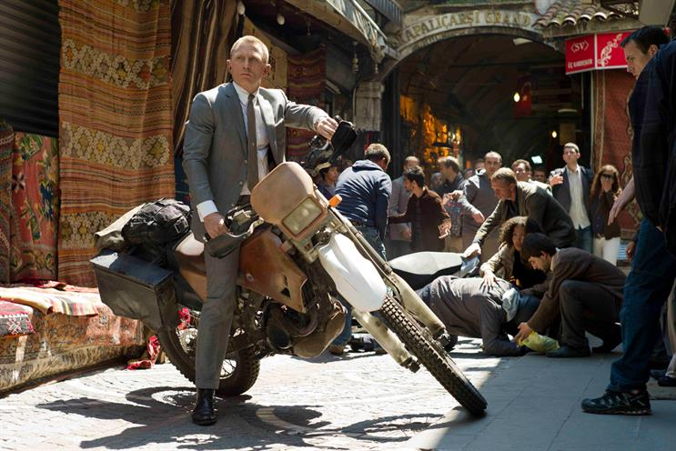 Skyfall: the latest James Bond movie boosted cinema advertising revenues last year