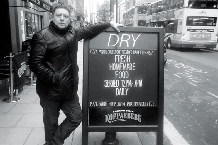 Shaun Ryder outside the Dry Bar in Manchester