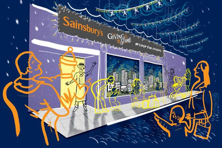Sainsbury's: activation will feature interactive donation containers