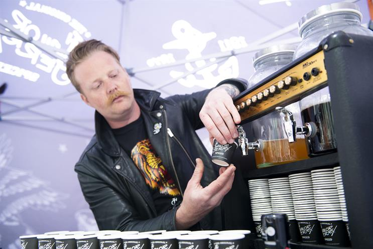 Sailor Jerry creates bar with 12 amps for drinkers' electric guitars