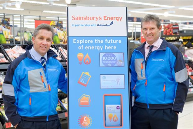 Justin King (left) launching Sainsbury's Energy with British Gas
