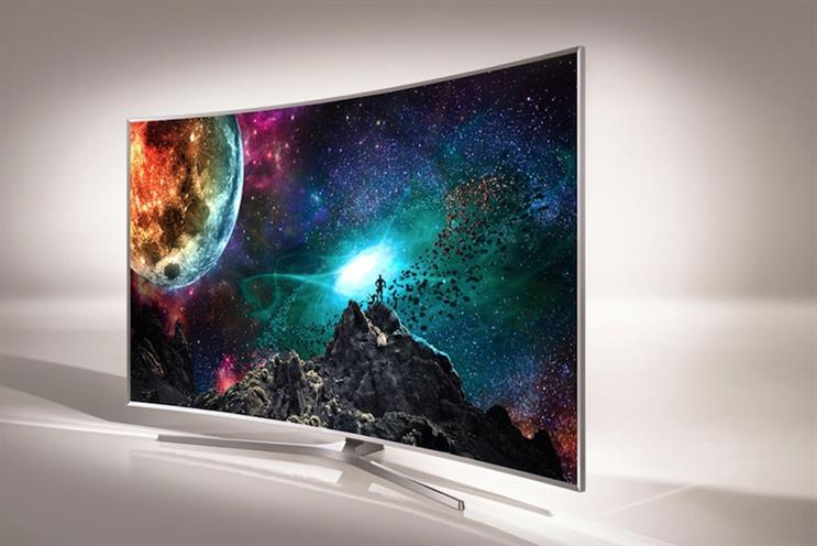Samsung: the brand's curved SUHD TV